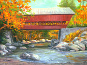 Conway Prints - Conway Covered Bridge #47 Print by Elaine Farmer