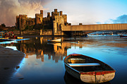 Celts Posters - Conwy Castle Reflection Poster by Mal Bray
