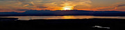 Anchorage Posters - Cook Inlet Sunset  Poster by Ed Boudreau