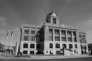 Cooke Photos - Cooke County Courthouse bw by Robyn Stacey