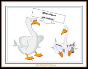 Humor Framed Prints Digital Art Prints - Cooked Goose Print by Bobbee Rickard