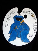 Cookie Painting Prints - Cookie Monster Print by Johaley Art