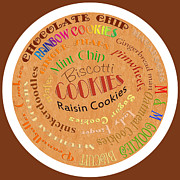 Chip Mixed Media Prints - Cookie Typography Print by Andee Photography