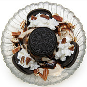 Oreos Prints - Cookies And Ice Cream Sundae 2 Print by Andee Photography