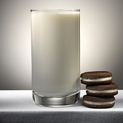 Cookies And Milk Print by Robert Mollett