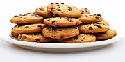 Chocolate Chips Prints - Cookies - Chocolate Chip - Baker - Panorama Print by Andee Photography