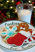 Men Framed Prints - Cookies for Santa  Framed Print by Amy Cicconi