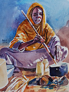 Mohamed Fadul Art - Cooking morning by Mohamed Fadul