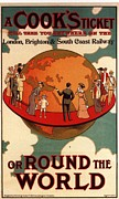 Posters On Drawings - CookÕs Thomas Cook 1904 1900s Uk by The Advertising Archives