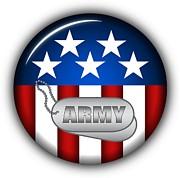 Cool Army Insignia Print by Pamela Johnson