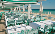 South Of France Posters - Cool Beach Restaurant Poster by John James