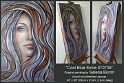 Abstract Composition Paintings - Cool Blue Smile 070709 Comp by Selena Boron