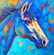 Abstract Horse Paintings - Cool Breeze by Theresa Paden