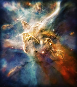 Constellations Photo Framed Prints - Cool Carina Nebula Pillar 4 Framed Print by The  Vault - Jennifer Rondinelli Reilly