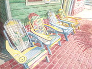 Key West Drawings - Cool Chairs by John Meyers