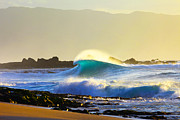 Photography Surf Framed Prints - Cool Curl Framed Print by Sean Davey