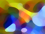Panoramic Digital Art - Cool Dappled Light by Amy Vangsgard
