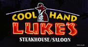 Eatery Digital Art - Cool Hand Lukes by Barbara Snyder