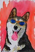 Cool Husky 3 Print by Warren Thompson