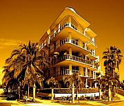 Cool Iron Building In Miami Print by Monique Wegmueller