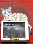 Air Conditioner Framed Prints - Cool Kitty Framed Print by Ed Weidman