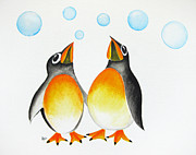 Penguins Art - Cool by Oiyee  At Oystudio