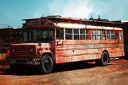 Abandoned School Prints - Cool School Bus 5D24927 Print by Wingsdomain Art and Photography