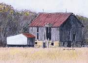 Old Barn Drawings - Cool Spring Farm by Sid Weaver