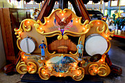 Hand-built Prints - Coolidge Park Carousel Print by Kathy  White