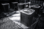 Air Conditioner Framed Prints - Cooling Power Framed Print by Olivier Le Queinec