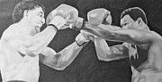 Boxing Drawings - Cooney and Holmes by Mark Beach