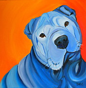 Dog Pop Art Paintings - Cooper by Debi Pople