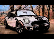 Mini Cooper Digital Art Posters - Cooper Sport I Poster by Kathy Sampson