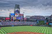 Baseball Game Framed Prints - Coors Field Framed Print by Ron White