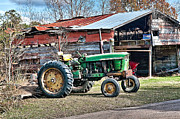Tin Roof Prints - Coosaw - John Deere Tractor Print by Scott Hansen