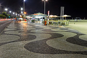Food Vendors Prints - Copacabana at Night  Print by George Oze