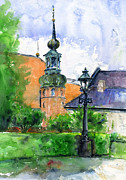 Library Painting Originals - Copenhagen Denmark by John D Benson