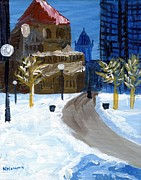 Boston Paintings - Copley Square Boston by Natallia Maseyeva