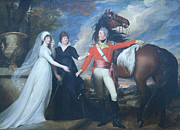 Copley; John Singleton (1738-1815) Prints - Copleys Colonel William Fitch And His Sisters Sarah And Ann Fitch Print by Cora Wandel
