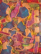 Jennifer Vazquez - Copper abstract mixed...