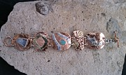 Stamped Jewelry - Copper Fine Silver Brass Plaque Bracelet by Dyan  Johnson