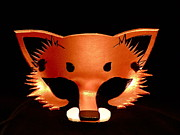 Mask Jewelry - Copper Fox Mask by Fibi Bell