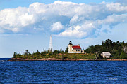 Christina Rollo Digital Art Metal Prints - Copper Harbor Lighthouse Metal Print by Christina Rollo