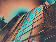 Man Made Structure Digital Art Prints - Copper High Rise Print by Shawna  Rowe
