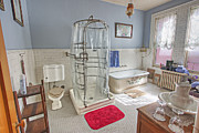 Shower Posters - Copper King Victorian Bathroom - Butte Montana Poster by Daniel Hagerman