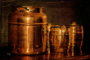 Jugs Metal Prints - Copper Metal Print by Lois Bryan