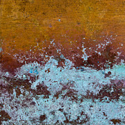 Copper Framed Prints - Copper Patina Framed Print by Carol Leigh
