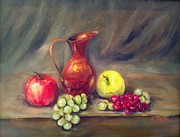 Anne Barberi - Copper Pitcher With Fruit