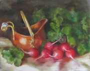 Cheri Wollenberg - Copper Pot and Radishes...