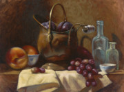 Grapes Paintings - Copper Pot by Timothy Jones